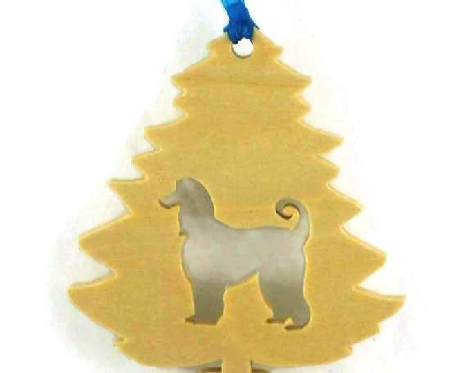 Afghan Christmas Tree Ornament Handmade From Poplar Wood, Pet Ornament, Dog Ornament, K9 Ornament, Wood Ornament, Christmas Decoration