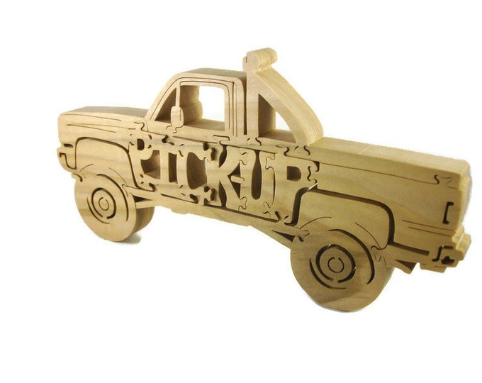 Pickup Truck Puzzle Handmade From Poplar Wood By KevsKrafts