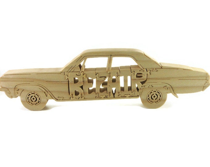 1965 Chevy BelAir Scroll Saw Puzzle Handmade From Poplar Wood By KevsKrafts