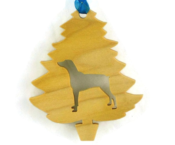 Doberman Pinscher Christmas Tree Ornament Handmade From Poplar Wood