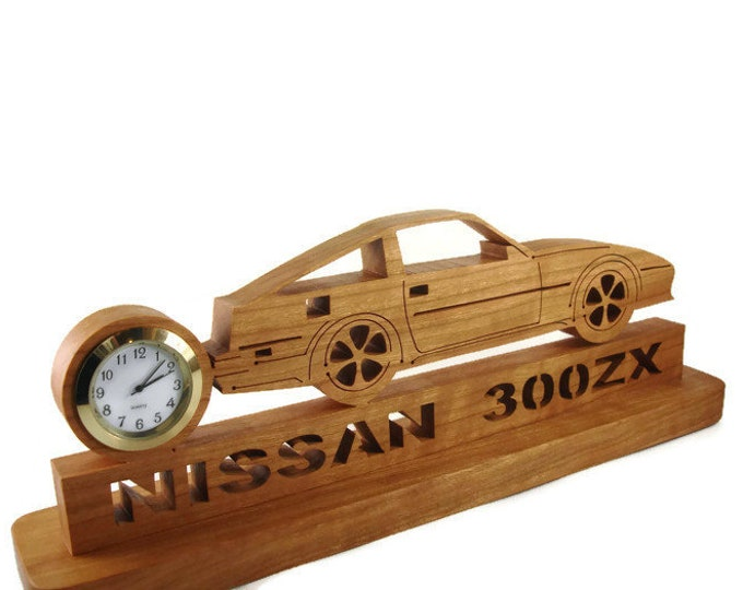 Datsun Nissan 300ZX Z31 Desk Or Shelf Quartz Clock Handmade From Cherry Wood By KevsKrafts