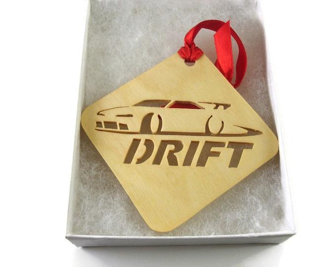 Drift Car Drifting Racing Christmas Ornament Handmade From Birch Wood By KevsKrafts BN-15