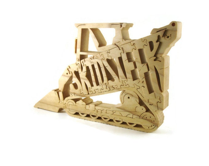 Skidsteer Hardwood Scroll Saw Puzzle Handmade By KevsKrafts