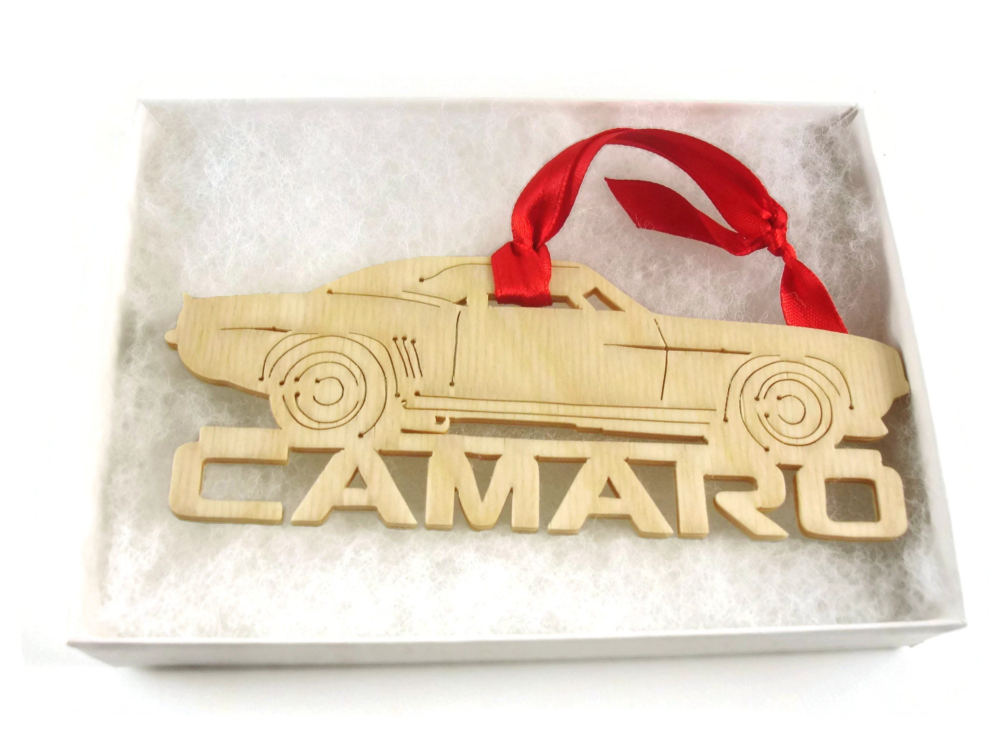 Classic Chevy Camaro Muscle Car Christmas Ornament Handmade From