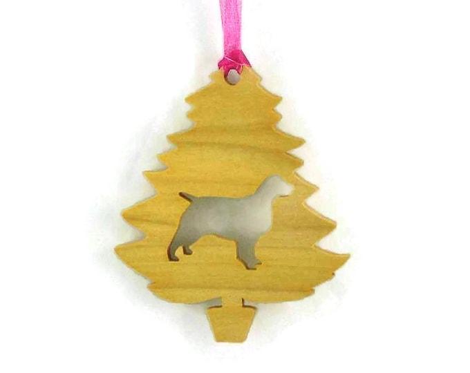 Spaniel Christmas Tree Ornament Handmade From Poplar Wood