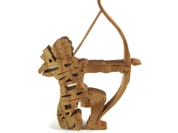 Archer Bow Hunter Wood Jigsaw Puzzle Handcrafted From Poplar Wood By KevsKrafts