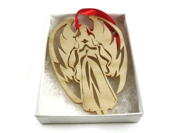 Angel Christmas Ornament Handmade From Birch Wood By KevsKrafts