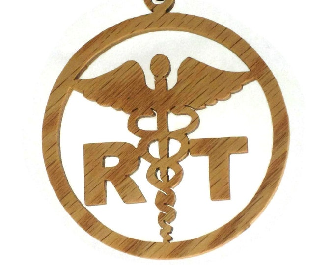 Respiratory Therapist Christmas Ornament Handmade From Oak Wood By KevsKrafts, NB-003-1 Healthcare Decor, Medical Ornament, Christmas Decora