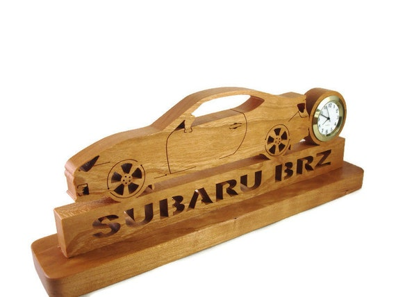 Subaru BRZ Desk or Shelf Clock Handmade From Cherry Wood By KevsKrafts