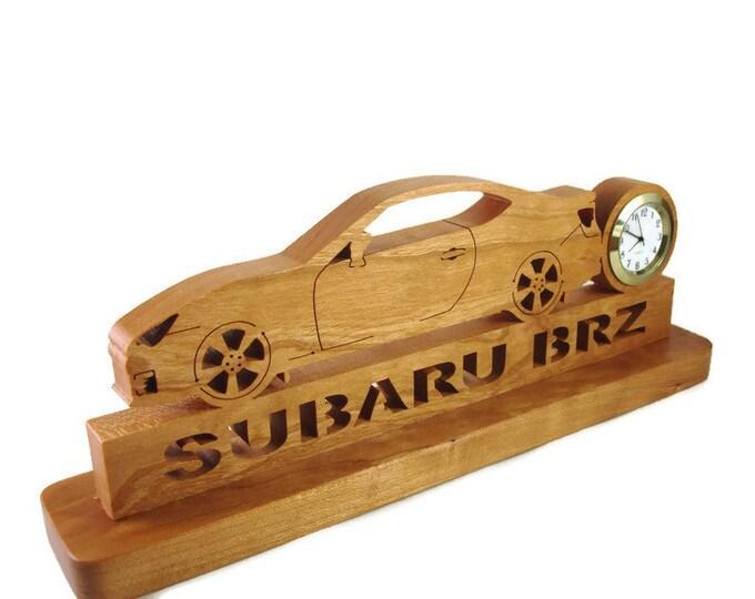 Subaru BRZ Desk or Shelf Clock Handmade From Cherry Wood By KevsKrafts