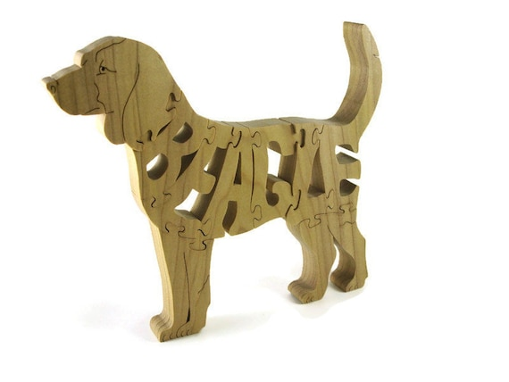 Beagle Dog Wooden Jigsaw Puzzle Handmade From Hardwood By KevsKrafts