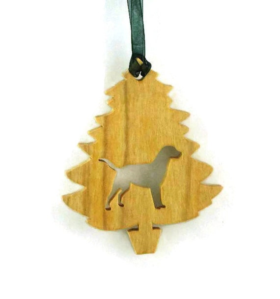 Labrador Retriever Christmas Tree Ornament Handmade From Birch Wood Black Lab, Yellow Lab, Golden Lab, Chocolate Lab