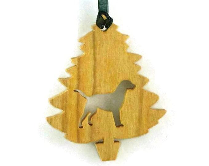 Labrador Retriever Christmas Tree Ornament Handmade From Birch Wood Black Lab, Yellow Lab, Golden Lab, Chocolate Lab