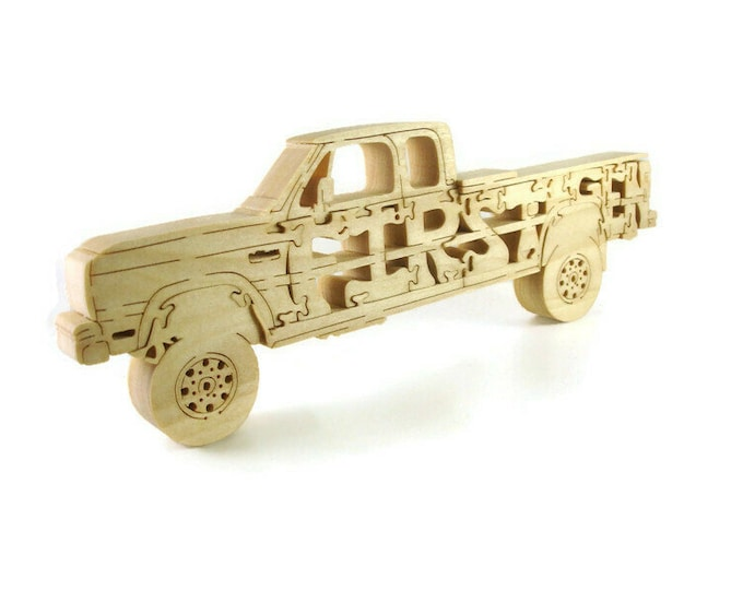 First Gen. Extended Cab Dodge Truck Puzzle Handmade From Poplar