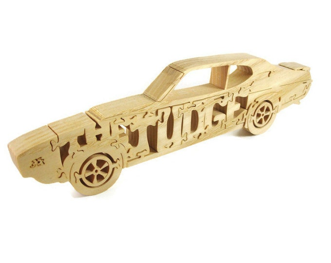 Pontiac GTO The Judge Wood Jigsaw Puzzle Handmade By KevsKrafts