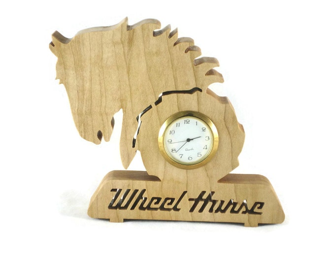 Wheel Horse Tractor Desk Or Shelf Clock Handmade From Maple Wood By KevsKrafts