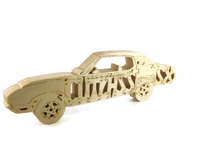 Oldsmobile Cutlass SX Wood Scroll Saw Puzzle Handmade By KevsKrafts