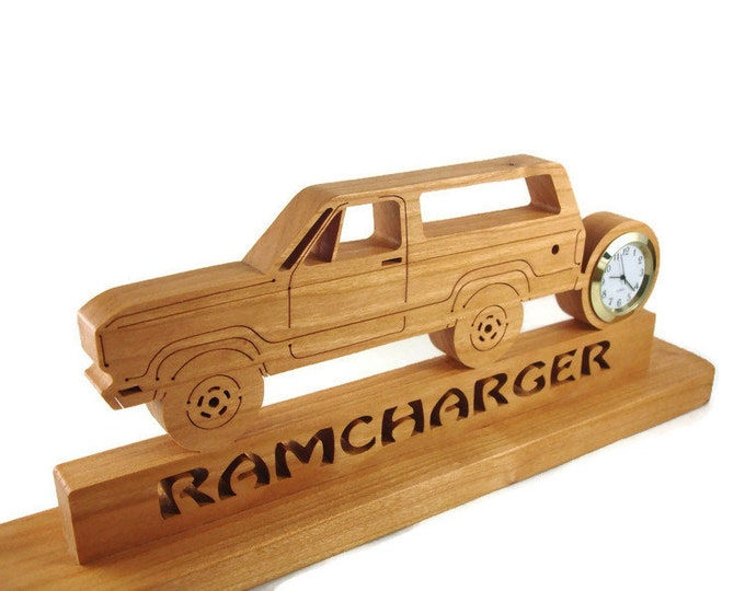 Ramcharger Desk Or Shelf Clock Handmade From Cherry Wood By KevsKrafts