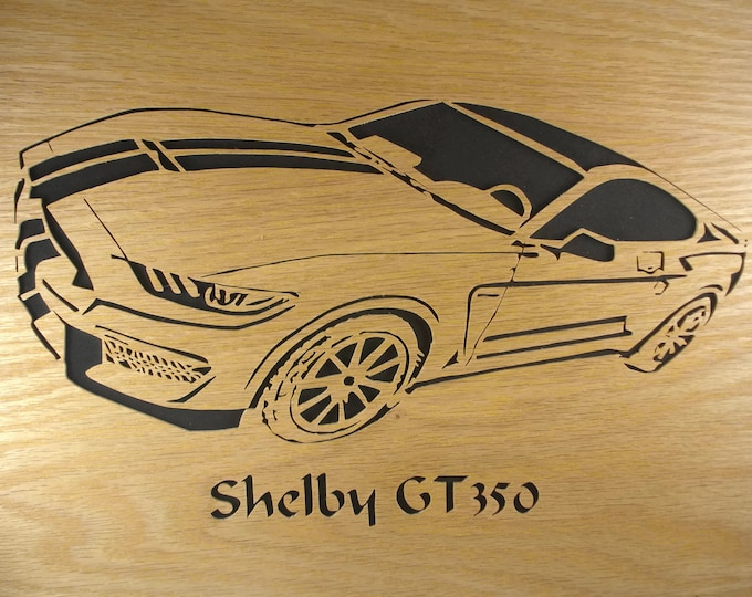Ford Mustang GT350 Wall Hanging Art Decor Handmade From Oak Or Birch Wood By KevsKrafts