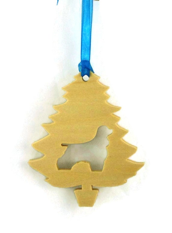 Cocker Spaniel Christmas Tree Ornament Handmade From Poplar Wood