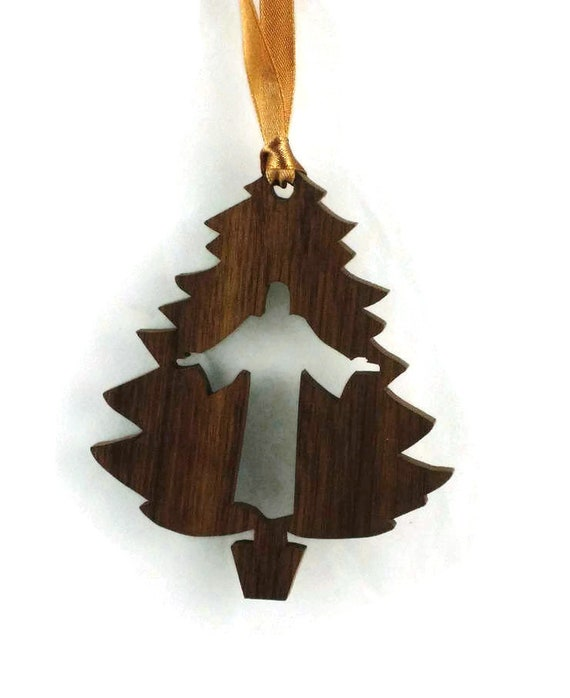 Jesus Christ Christmas Tree Ornament Handmade From Walnut Or Poplar Wood
