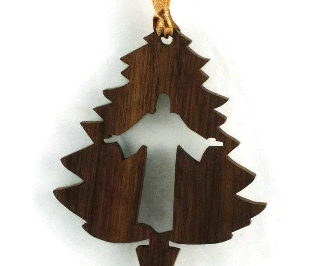 Jesus Christ Christmas Tree Ornament Handmade From Walnut Or Poplar Wood