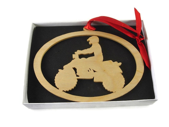 Quad / 4 Wheeler ORV Christmas Ornament Handmade From Birch Wood By KevsKrafts