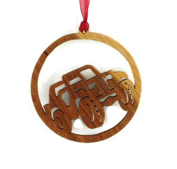 4x4 Jeep Christmas Ornament Handmade From Birch Wood