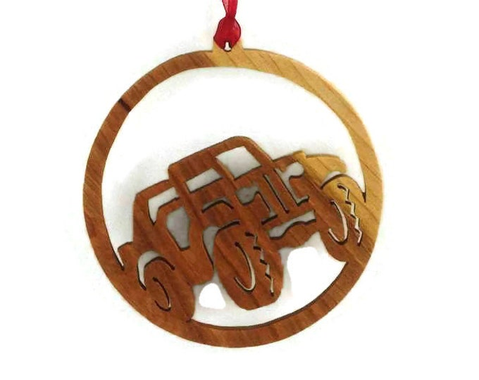 4x4 Jeep Christmas Ornament Handmade From Birch Wood
