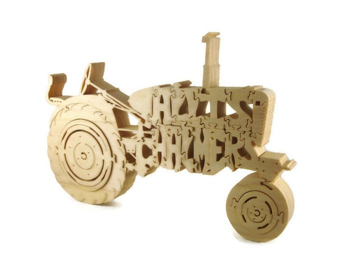 Allis Chalmers Tractor Wood Jigsaw / Scroll Saw Puzzle