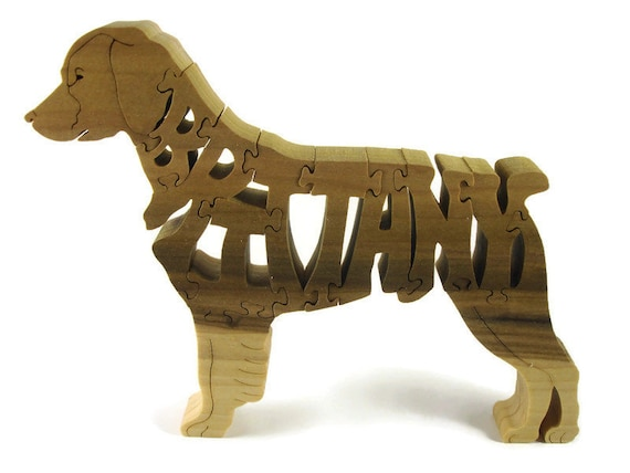 Brittany Dog Puzzle Handmade From Poplar Wood By KevsKrafts