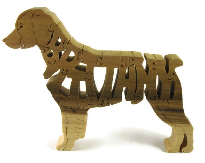 Brittany Dog Standing Jigsaw Puzzle Handmade From Poplar Wood By KevsKrafts