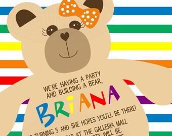 Build Bear Invite Etsy