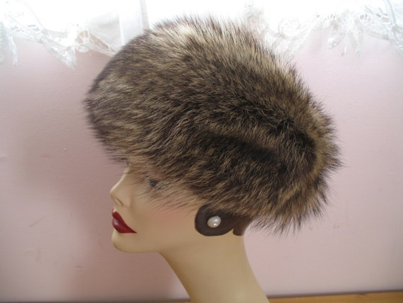 1970's Gorgeous Fur Hat, Marche Tag