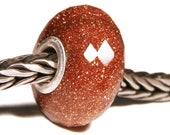 Gemstones by Anne Meiborg - Artisan europian charm bead -  small core - BHB - Sunstone - 11221