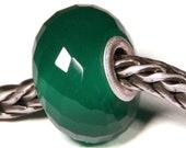 Gemstones by Anne Meiborg - Artisan europian charm bead -  small core - BHB - Green Onyx - 10629