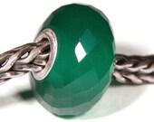 Gemstones by Anne Meiborg - Artisan europian charm bead -  small core - BHB - Green Onyx - 10635