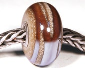 Lampwork by Anne Meiborg - Artisan charm bead small core - BHB glass bead - Purple Brown - 10517