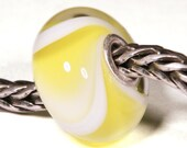 Lampwork by Anne Meiborg - Artisan charm bead small core - BHB glass bead - Yellow Armadillo - 10612