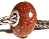 Gemstones by Anne Meiborg - Artisan europian charm bead -  small core - BHB - Sunstone - 11223