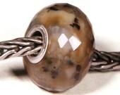 Gemstones by Anne Meiborg - Artisan europian charm bead -  small core - BHB - Dendritic Agate - 10489