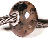 Gemstones by Anne Meiborg - Artisan europian charm bead -  small core - BHB - Dendritic Agate - 10487