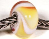 Lampwork by Anne Meiborg - Artisan charm bead small core - BHB glass bead - Easter dillo - 10342
