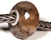 Gemstones by Anne Meiborg - Artisan europian charm bead -  small core - BHB - Dendritic Agate - 10493