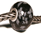 Gemstones by Anne Meiborg - Artisan europian charm bead -  small core - BHB - Obsidian - 011264