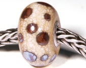 Lampwork by Anne Meiborg - Artisan charm bead small core - BHB glass bead - Purple Brown - 10514