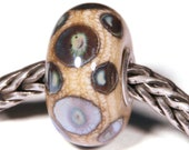 Lampwork by Anne Meiborg - Artisan charm bead small core - BHB glass bead - organic purple brown - 10382