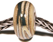 Lampwork by Anne Meiborg - Artisan charm bead small core - BHB glass bead - Blue rivers - 11213