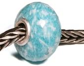 Gemstones by Anne Meiborg - Artisan europian charm bead -  small core - BHB - Amazonite - 11233