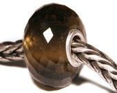 Gemstones by Anne Meiborg - Artisan europian charm bead -  small core - BHB - Smoky Quartz - 11254